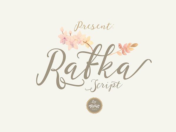 Download Rafka Script Font Free