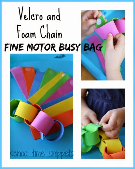 Velcro Fine Motor Busy bag