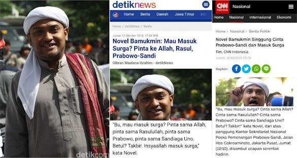 Novel Merasa Dirugikan atas Pemberitaan <i>Detikcom</i> di Acara Deklarasi Perempuan Prabowo