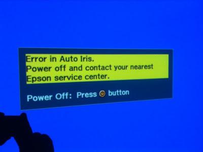 error auto iris proyektor epson