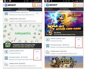 Cara Mendapatkan Uang Dari Aplikasi Whaff Android