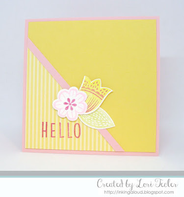 Floral Hello card-designed by Lori Tecler/Inking Aloud-stamps and dies from Reverse Confetti