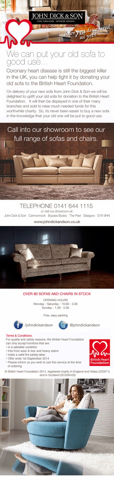 Free Sofa Uplift Glasgow Queen Bed Set John Dick And Son For Quality Safety Reasons The British Heart Foundation Can Only Accept Furniture That Are In A Saleable Condition From Wear Tear Heavy