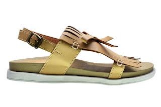 Sandal flip flops cerelia fredella krem online