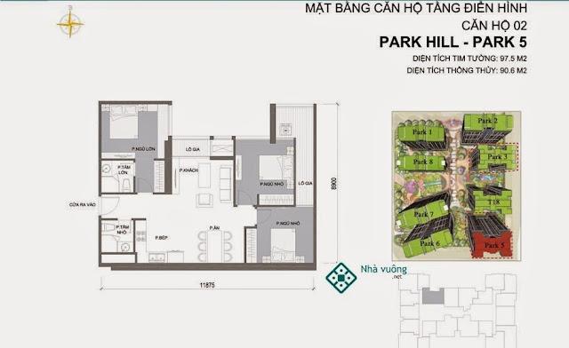 Căn hộ số 02 Times City Park Hill 5