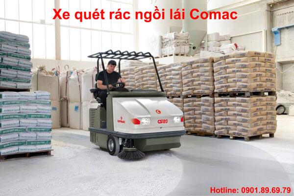 xe quét rác ngồi lái Comac