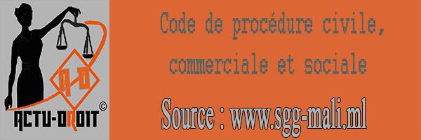 Code de procédure civile, commerciale et sociale