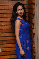 Pallavi Dora Actress in Sleeveless Blue Short dress at Prema Entha Madhuram Priyuraalu Antha Katinam teaser launch 003.jpg