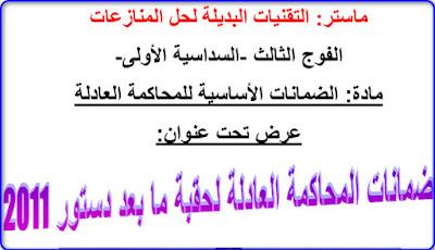عرض ضمانات المحاكمة العادلة لحقبة ما بعد 2011