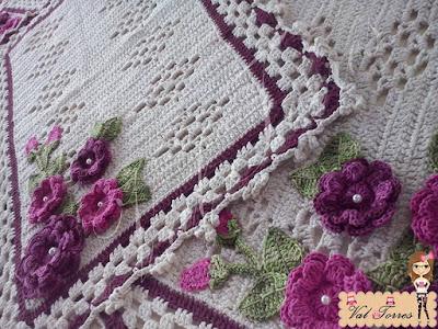 Tapete em crochê, Tapetes, tapetes em barbante, tapetes floridos em crochê, Jogo de tapetes em crochê