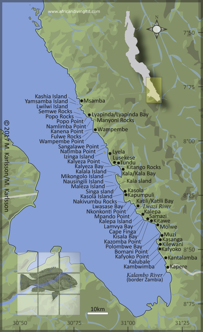 Lake Tanganyika On A Map Of Africa.African Diving Blog