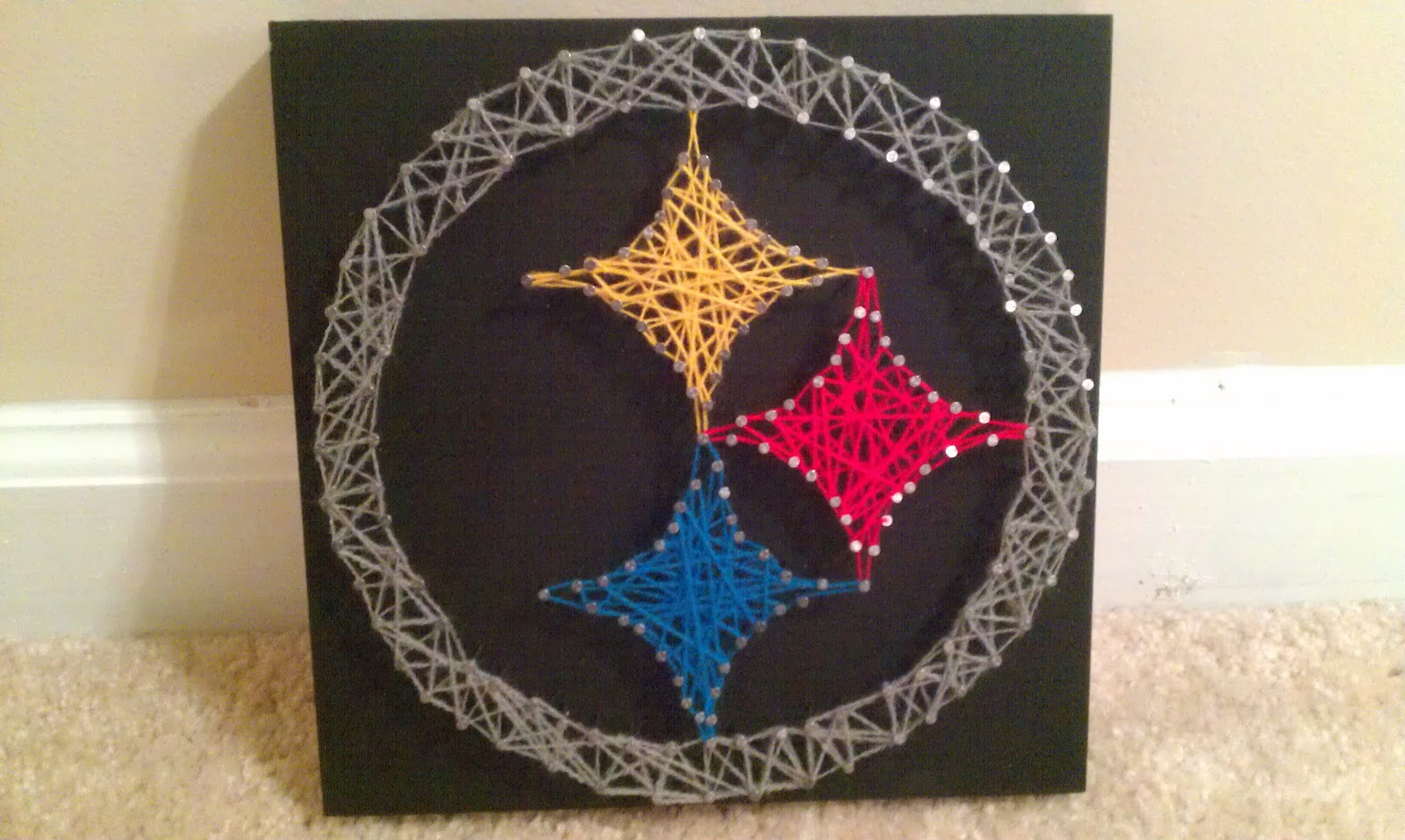 Sidebar Of The Peanut Gallery Steelers String Art