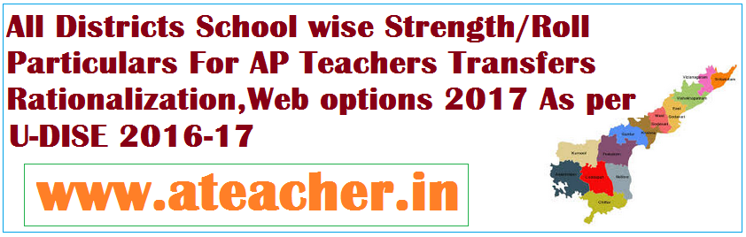 Download DISTRICT WISE,MANDAL WISE,SCHOOL WISE in AP SCHOOLS STRENGTH PARTICULARS