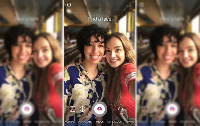 kenapa fitur kamera focus tidak muncul di instagram stories