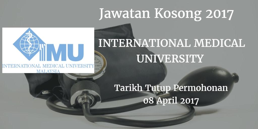 Jawatan Kosong IMU 08 April 2017