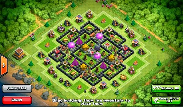 Gambar Layout Farming Base Clash of Clans TH 8