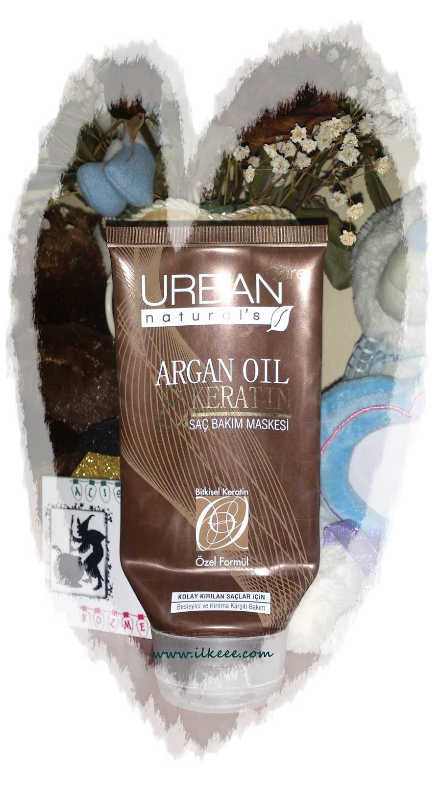 Argan oil&Keratin - Bitkisel Keratin - Parabensiz Saç bakımı - Urban Naturals - Urban Naturals Argan Serisi - Urban Naturals Argan Saç Maskesi