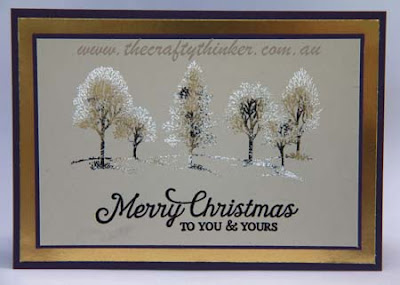 SU, Heat Embossing, Christmas Card, hand made