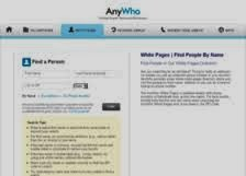 AnyWho White Pages Reverse Lookup