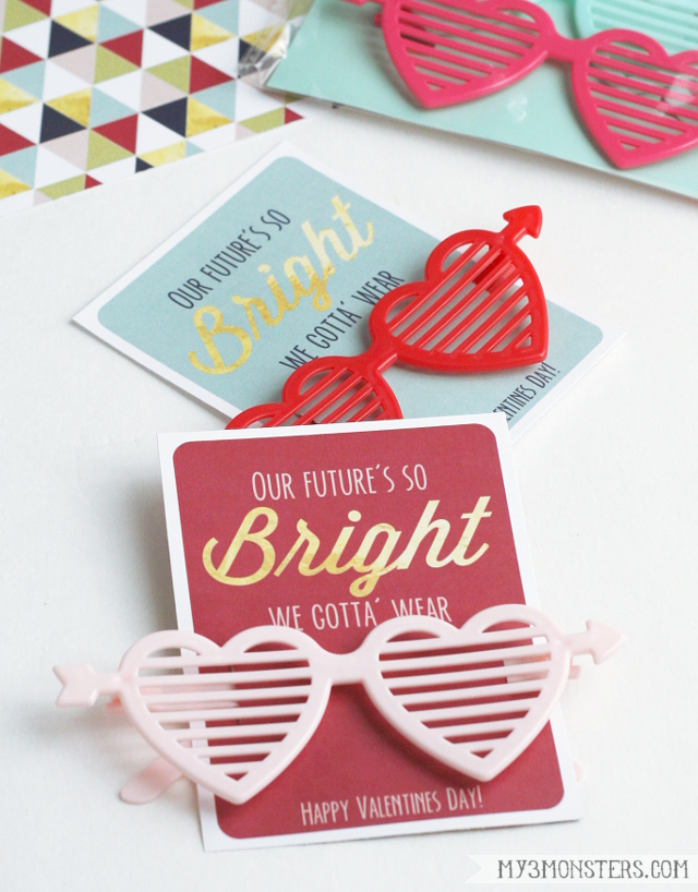 Super cute FREE non-candy valentine ideas with free printables at my3monsters.com.