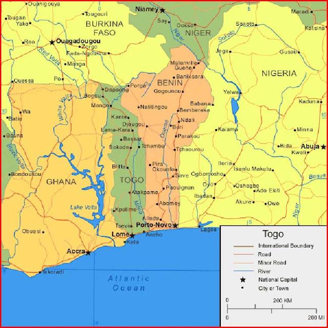 Gambar Peta Togo