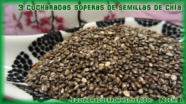 Semillas de chia. Beneficios de las semillas de chia. Semillas de chia para adelgazar.