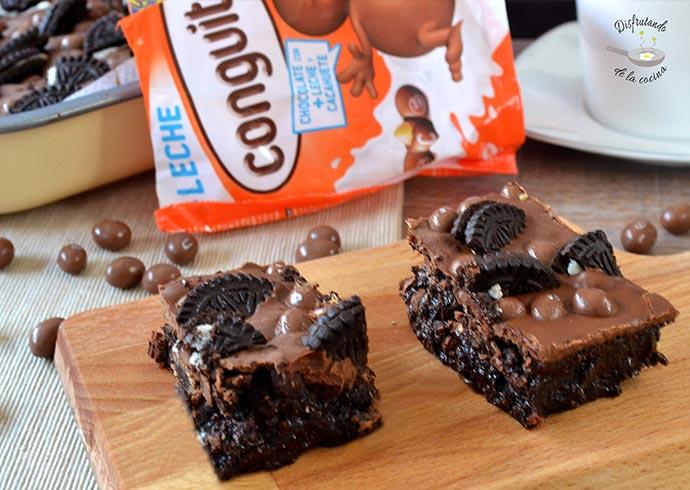 Cuadraditos de cacahuete y chocolate (Postre fácil)