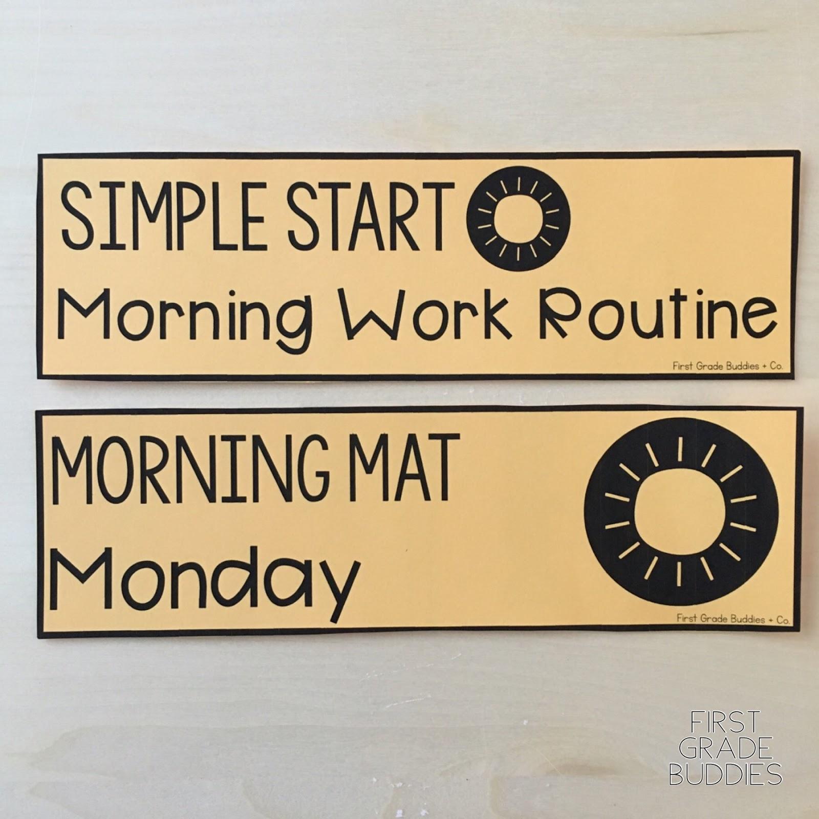 Simple Start: Morning Work Routine   First Grade Buddies [ 1600 x 1600 Pixel ]