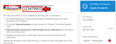 cara pembayaran tiket traveloka via indomaret