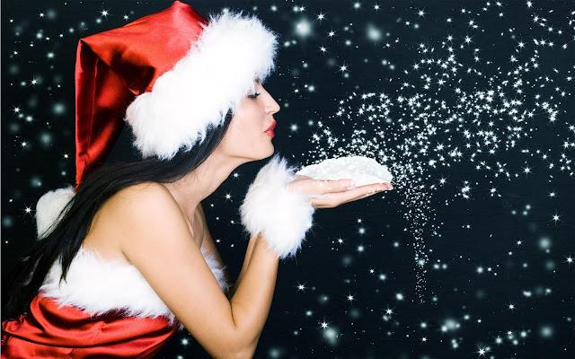 beautiful christmas sanata babe wishes image picture