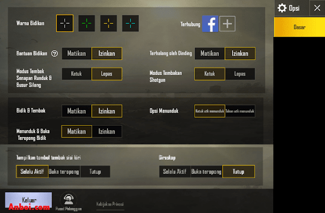 Settingan Aim PUBG Mobile Terbaik