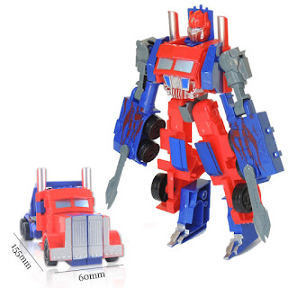 Super Robot Transformerable Vehicle Toys Car Changing Robot Model Optimus Prime