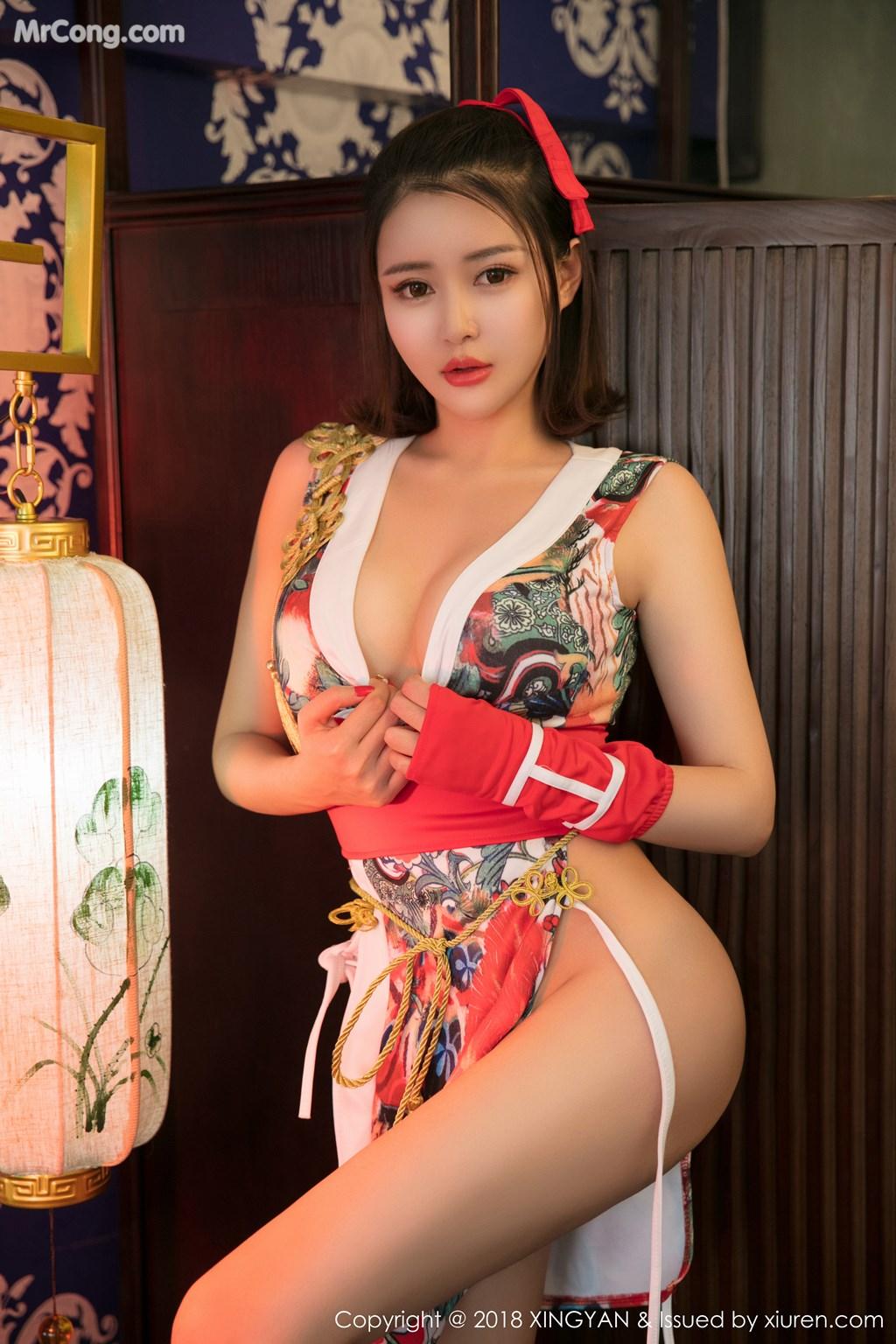 Image XingYan-Vol.028-MrCong.com-014 in post XingYan Vol.028: Người mẫu 廿十 (41 ảnh)