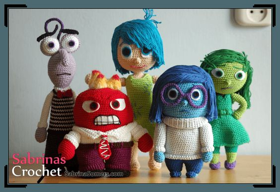 Amigurumi İnside Out Character-Free Pattern