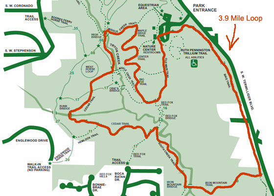 Tryon Creek State Park Map PDX Nature Trails: Tryon Creek Maps Tryon Creek State Park Map
