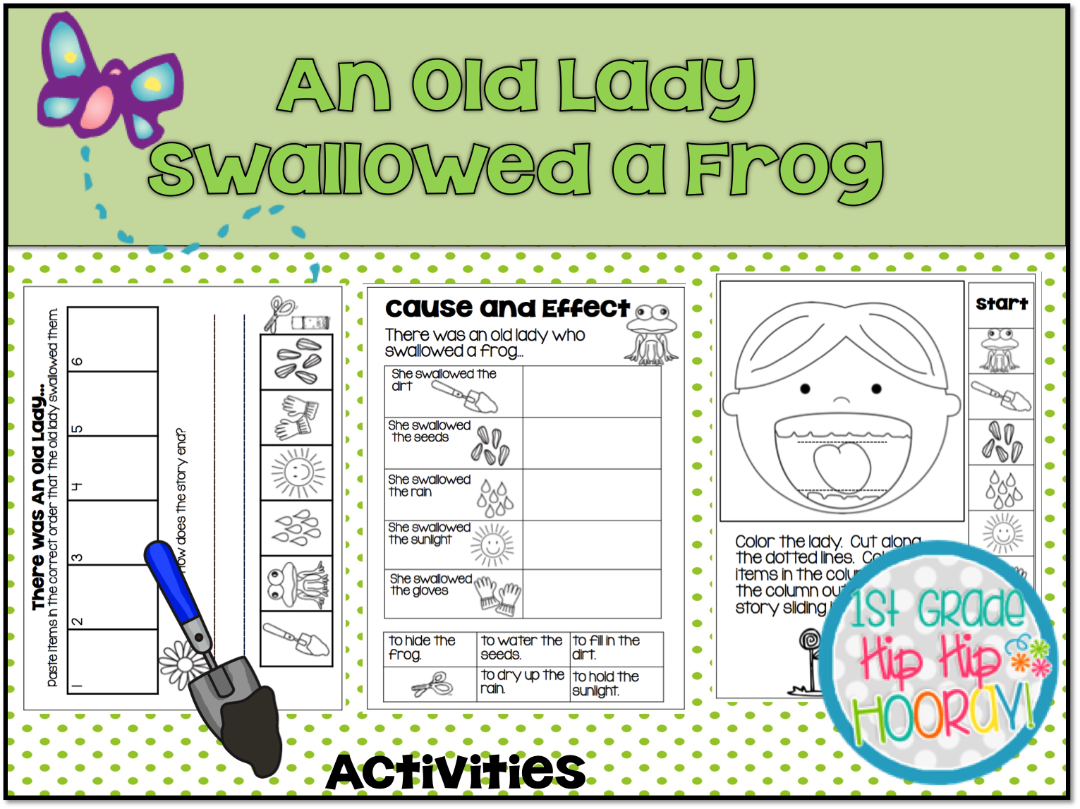 1st Grade Hip Hip Hooray Old Lady Who Swallowed A Frog