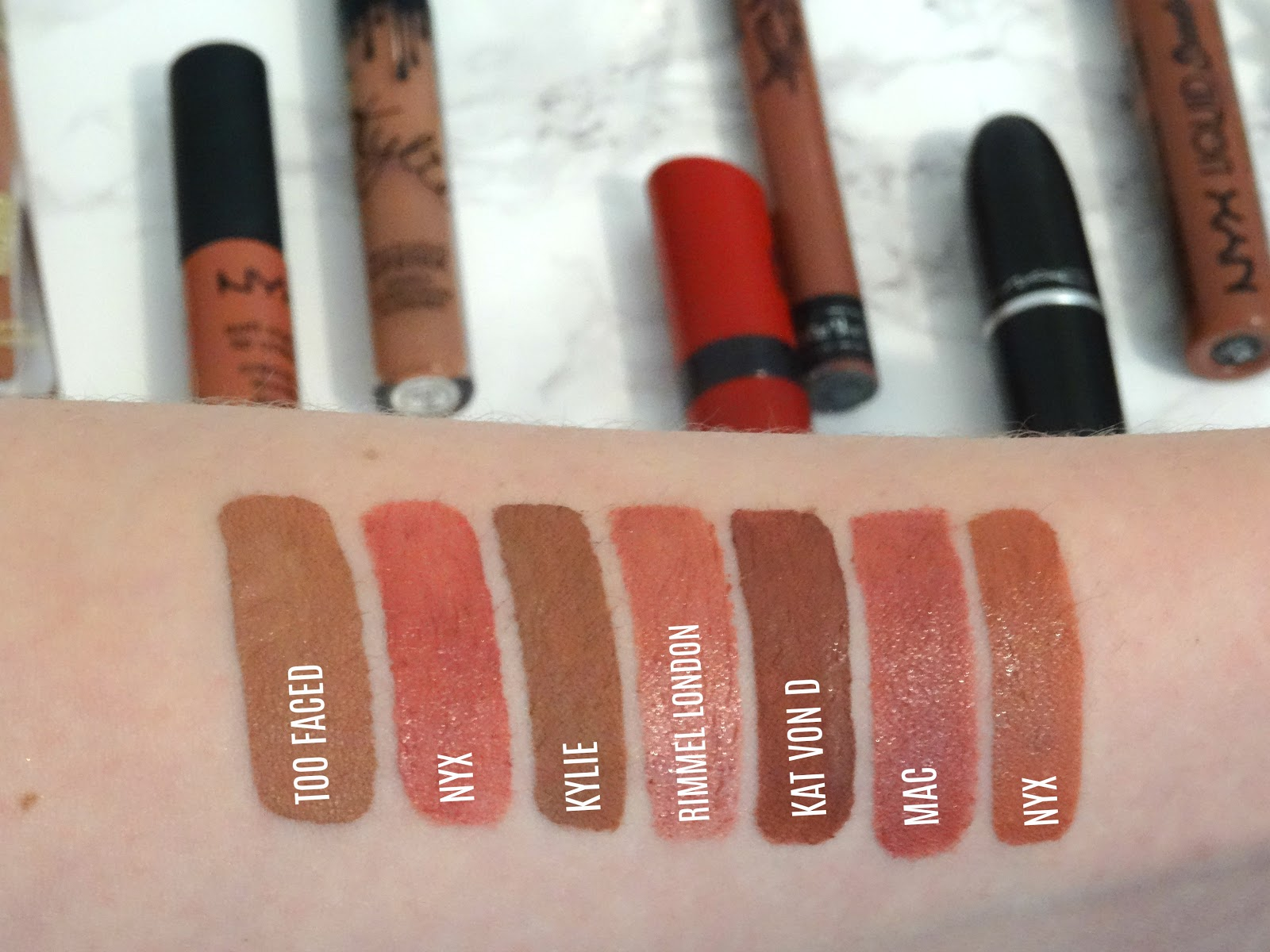 A Week In Nudes Swatches