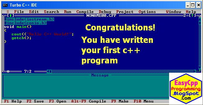 Type your C Plus Plus program