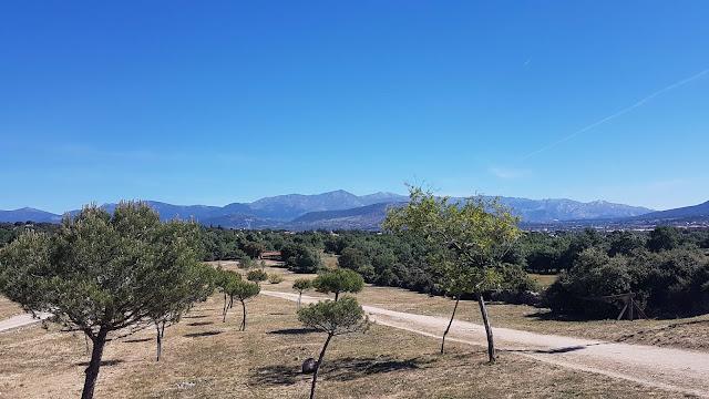 Vistas de la sierra de Madrid desde El Cerrillo