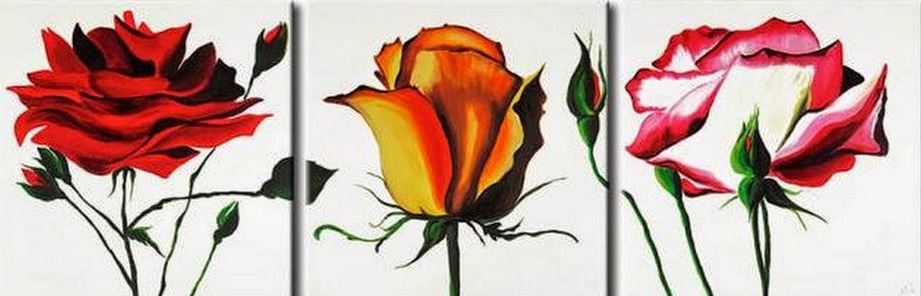 Cuadros Modernos Pinturas y Dibujos : Imágenes de Flores