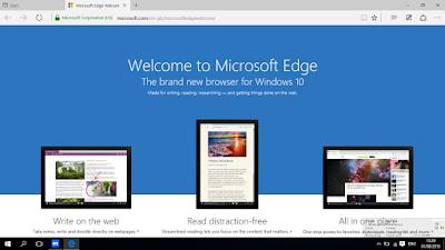 Inilah Microsoft Edge, Pengganti Internet Explorer Pada Windows 10