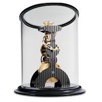 L'epee La Tour Noire Table Clock – Gold, Cotes de Geneve, Black Base