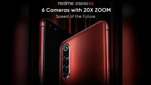 Realme X50 Pro 5G kamera detayları ortaya çıktı; 6 kamera sensörü ile geliyor!