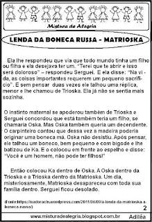 A lenda da boneca Russa Matrioska copa