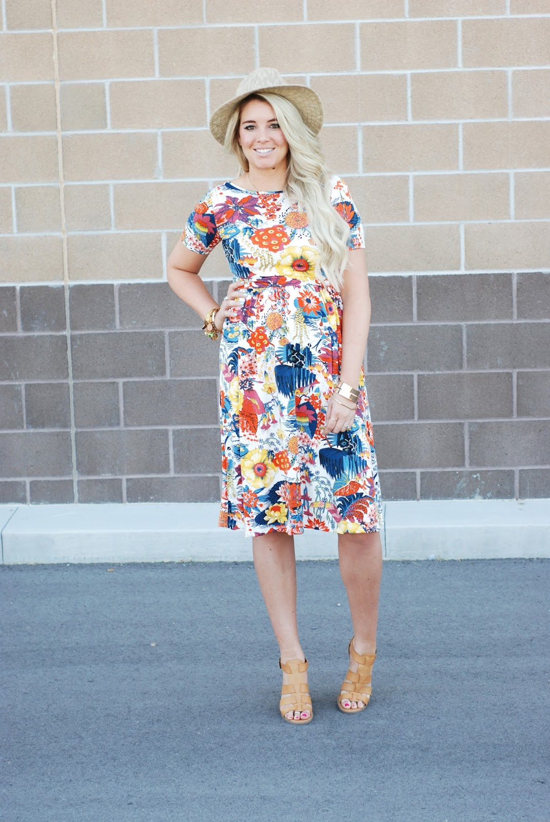 Pregnant Outfit, Zaful, Floral Dress