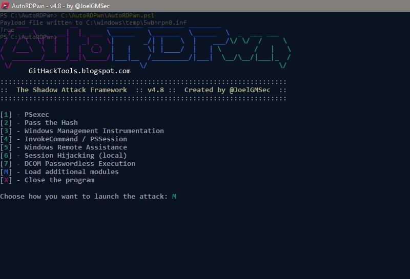 AutoRDPwn - The Shadow PowerShell script Attack to Windows