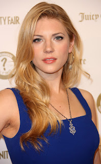Katheryn Winnick HD Images in Blue Dress
