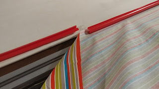 Loading a quilt on the longarm with Red Snappers