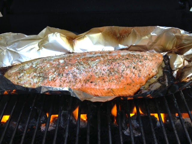 Healthy Salmon Grilled in a Pouch