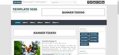 Template Blogger Moderno para todos tipos de blog